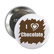 "I Love Chocolate 2.25"" Button (10 pack)"
