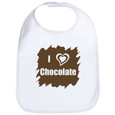 I Love Chocolate Bib