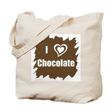 I Love Chocolate Tote Bag