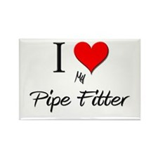 I Love My Pipe Fitter Rectangle Magnet