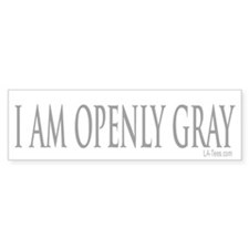 OPENLY GRAY Bumper Bumper Sticker