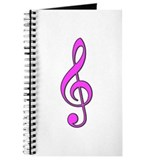 Retro Hot Pink Treble Clef Journal