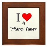 I Love My Piano Tuner Framed Tile