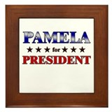 PAMELA for president Framed Tile