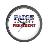 PAIGE for president Wall Clock