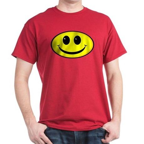 Smiley Face Oval Dark T-Shirt