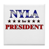 NYLA for president Tile Coaster