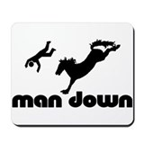 man down bronc Mousepad