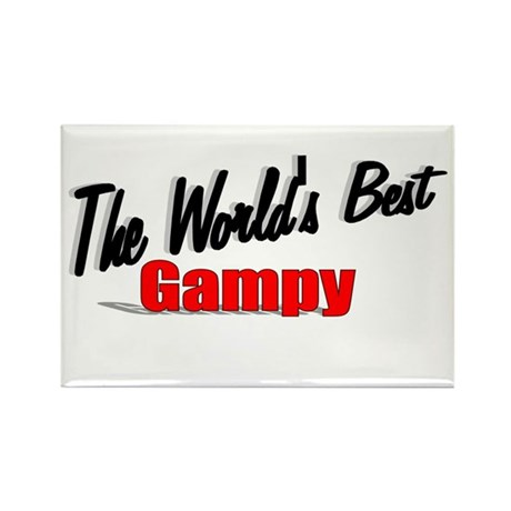"""The World's Best Gampy"" Rectangle Magnet"