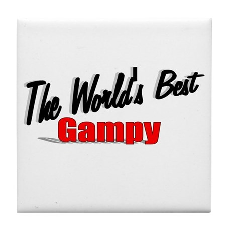 """The World's Best Gampy"" Tile Coaster"