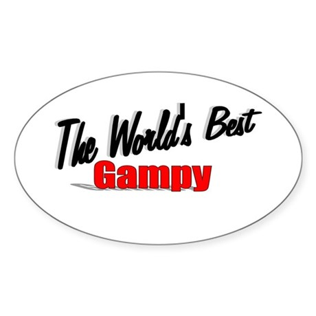 """The World's Best Gampy"" Oval Sticker"