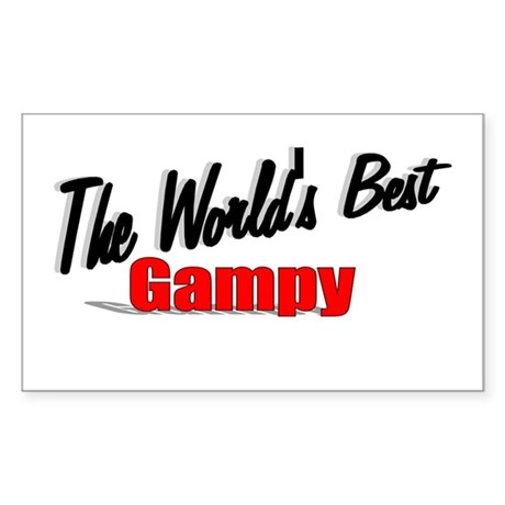&quot;The World's Best Gampy&quot; Rectangle Sticker