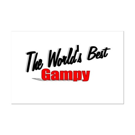 &quot;The World's Best Gampy&quot; Mini Poster Print