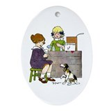 Lemonade Stand Oval Ornament