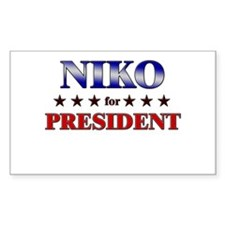NIKO for president Rectangle Decal