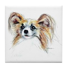 Papillon #2 Tile Coaster