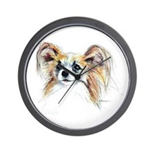 Papillon #2 Wall Clock