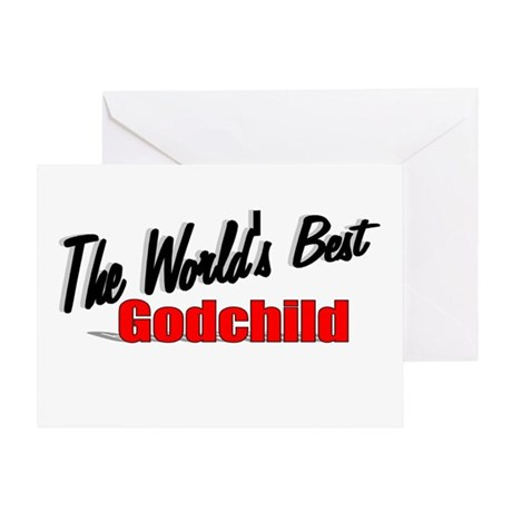 """The World's Best Godchild"" Greeting Card"