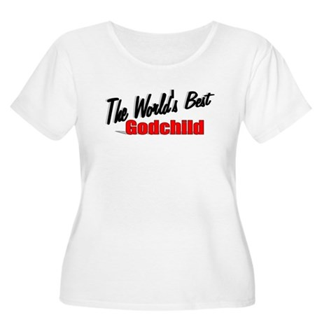 """The World's Best Godchild"" Women's Plus Size Scoo"