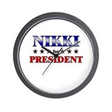 NIKKI for president Wall Clock