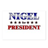 NIGEL for president Postcards (Package of 8)