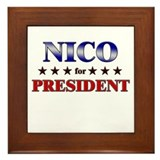 NICO for president Framed Tile