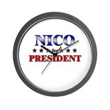 NICO for president Wall Clock