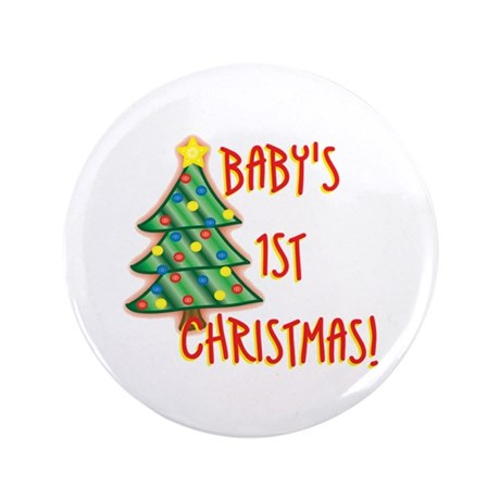"Baby's 1st Christmas 3.5"" Button"