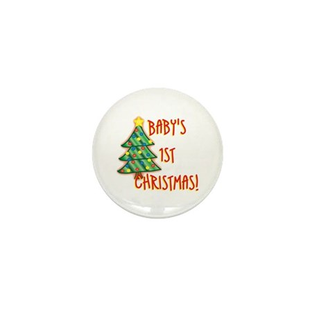 Baby's 1st Christmas Mini Button