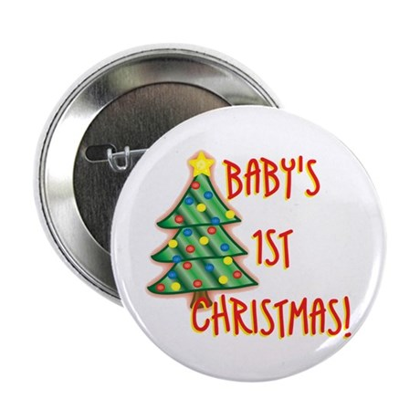 "Baby's 1st Christmas 2.25"" Button"