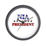 NIA for president Wall Clock