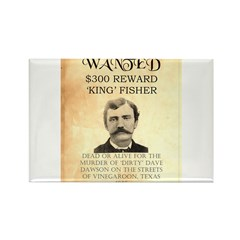 """Wanted """"King"""" Fisher Rectangle Magnet (100 pack)"""