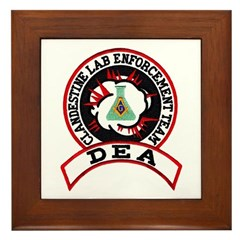 Masonic DEA CLET Framed Tile