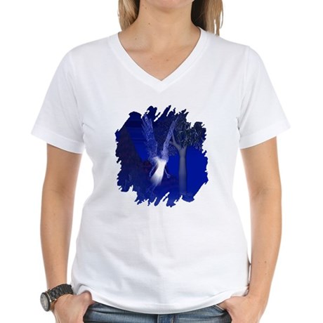 Iridescent Angel Women's V-Neck T-Shirt
