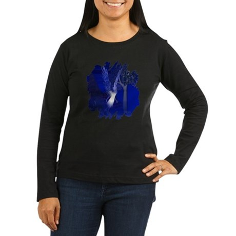 Iridescent Angel Women's Long Sleeve Dark T-Shirt