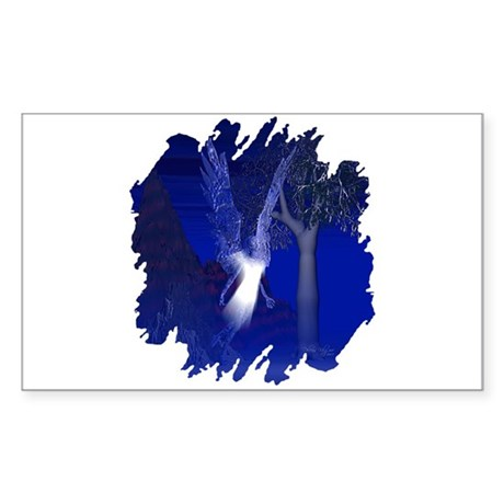 Iridescent Angel Rectangle Sticker