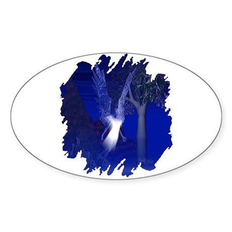 Iridescent Angel Oval Sticker