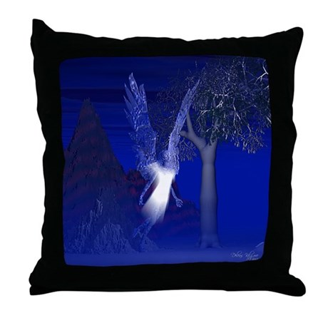 Iridescent Angel Throw Pillow