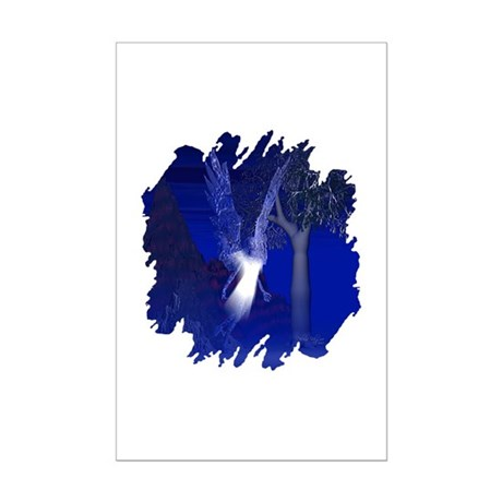 Iridescent Angel Mini Poster Print