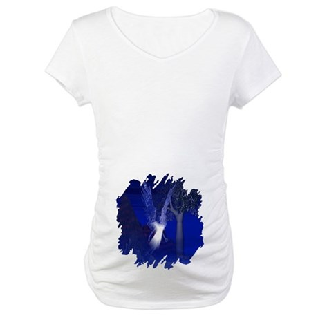 Iridescent Angel Maternity T-Shirt