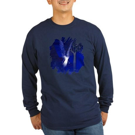 Iridescent Angel Long Sleeve Dark T-Shirt