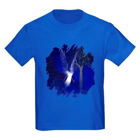 Iridescent Angel Kids Dark T-Shirt