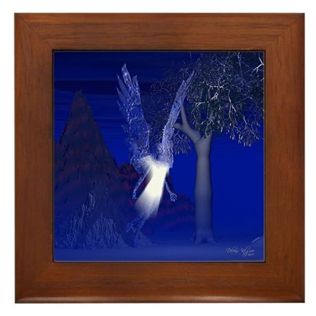 Iridescent Angel Framed Tile