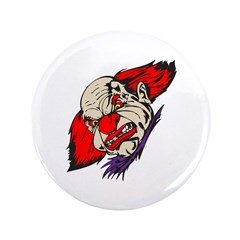 "Evil Snarling Clown 3.5"" Button"
