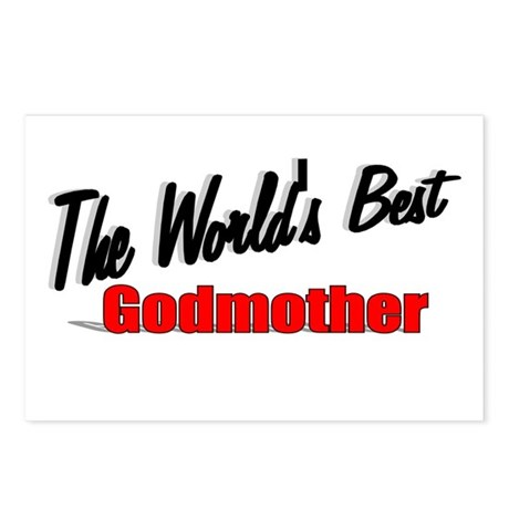 &quot;The World's Best Godmother&quot; Postcards (Package of
