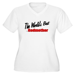 """The World's Best Godmother"" Women's Plus Size V-N"