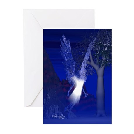 Iridescent Angel Greeting Cards (Pk of 10)