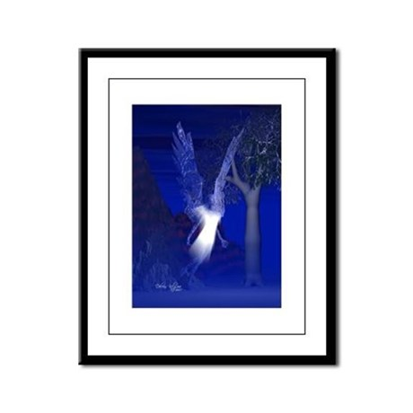 Iridescent Angel Framed Panel Print