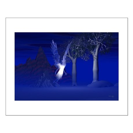Iridescent Angel Small Poster