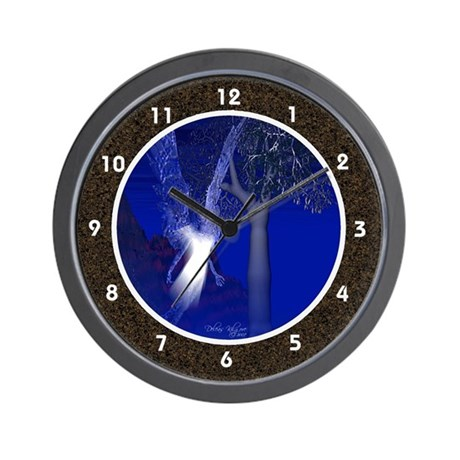 Iridescent Angel Wall Clock